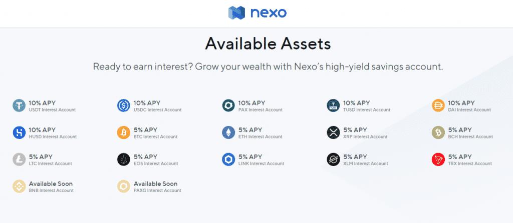 Nexo interest rate on saving account