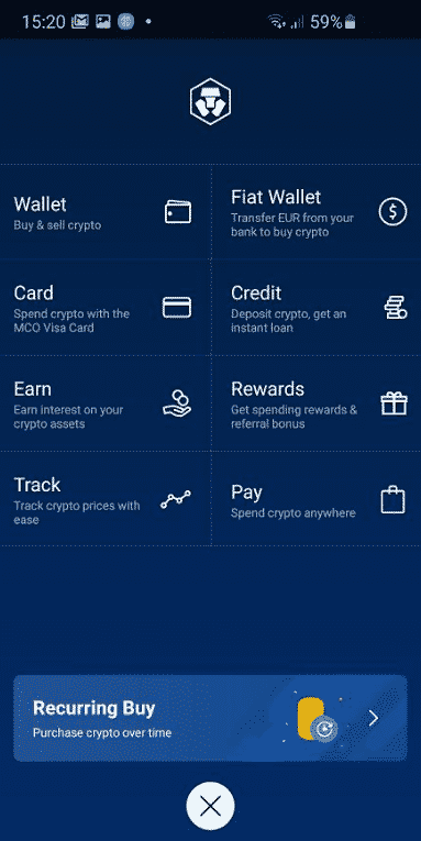 Crypto.com App Review All features in the mobile app Screenshot