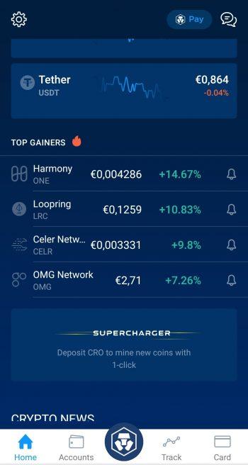 Crypto.com app welcome screenshot